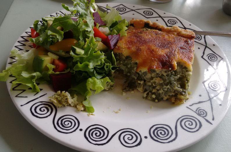 Spinach quiche, thevegetarianman